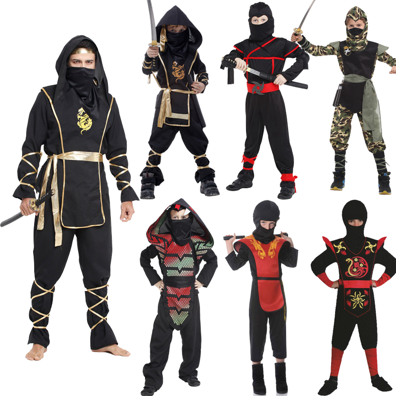 Get Quotations Cos Halloween Black Ninja Suits Japanese Samurai Warriors Adults And Children Clothing Stab Service