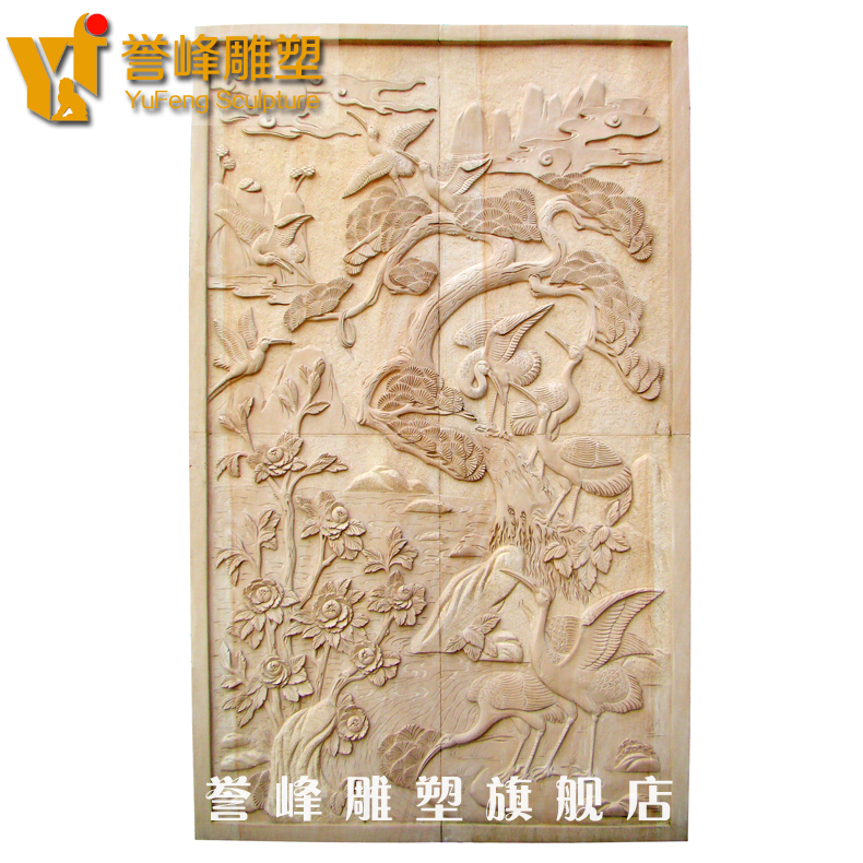 [Cosmos] exquisite sculpture stone carving relief decorative painting mural painting home decorative wall paintings of flowers and birds relief carving