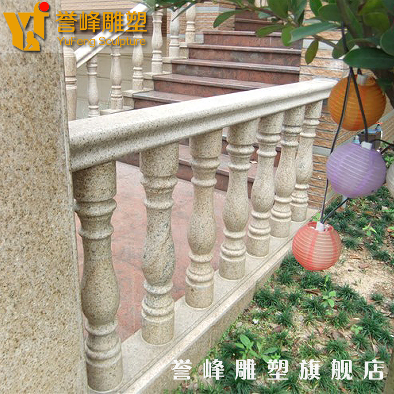 [Cosmos] marble sculpture stone carving stone vase column column staircase handrail guardrail villa balcony railing