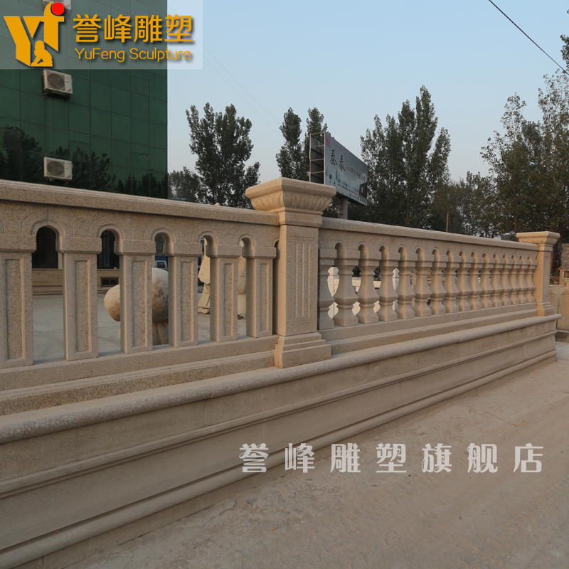 [Cosmos] stone sculpture steeplechase euclidian natural stone vase railing railing customized YFFS012