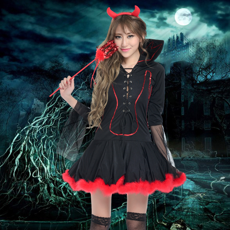 Cosplay costume halloween witch costume witch dress costume party masquerade costume demon angel clothes
