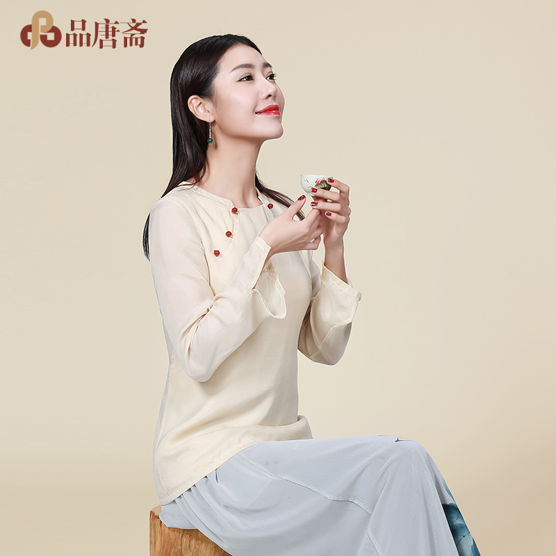 Costume female summer shirt 2016 new long tea served chinese style women's dress vintage theatrical improved female han chinese clothing