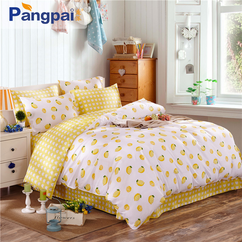Cotton bed linen denim quilt 1.5m1.8 m student dormitory beds metal frame up and down the bed cotton three sets