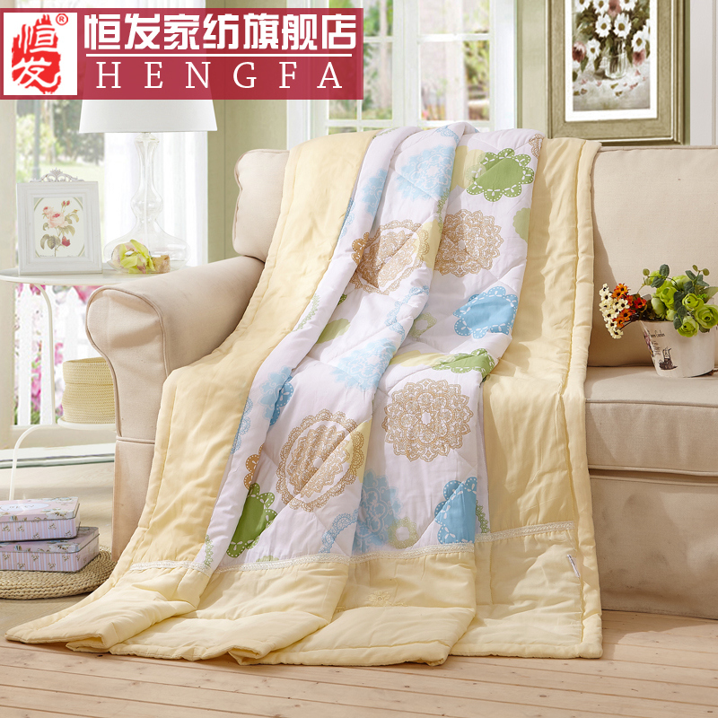 Cotton summer air conditioning is cool in summer and washable cotton children's spring and autumn thin quilt single double student is the core