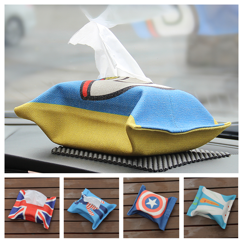 Cotton with a tissue box car car car pack of paper towels pumping tray cover creative cute cartoon car supplies jewelry
