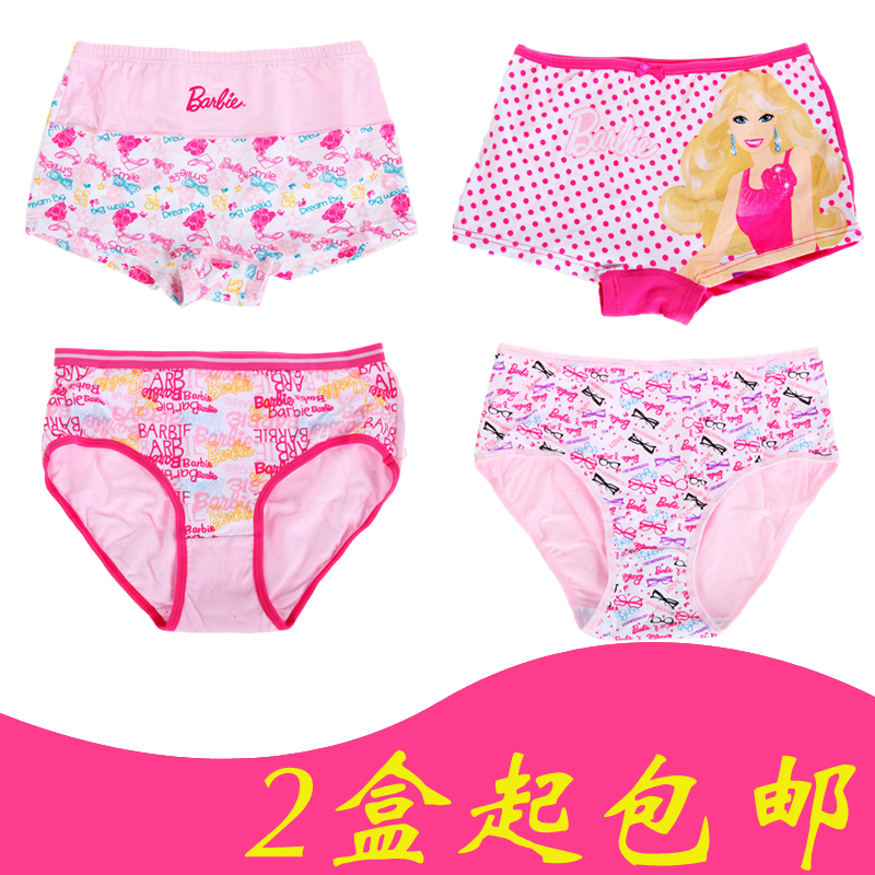 Counter genuine barbie girls cotton underwear children triangle pants baby cotton shorts two loaded 2