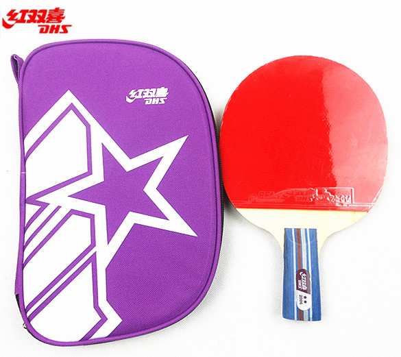 Counter genuine dhs capella 2002 2006 table tennis racket tennis racket beginner type double reverse gum penhold horizontal plate