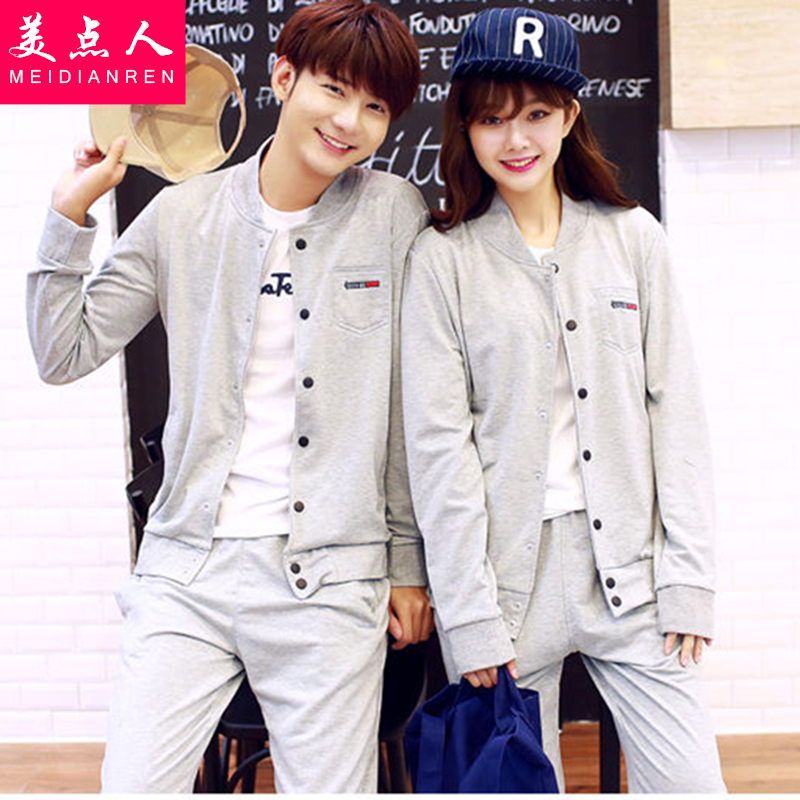 Couples fall 2016 new korean version of spring and autumn fashion suit female three sets of high school students leisure sports class service