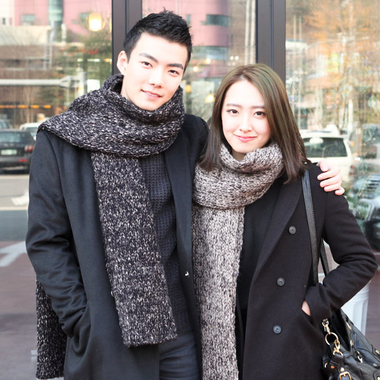 Couples winter scarves korean female winter autumn and winter leisure thick wool knit korean tidal wild student wool