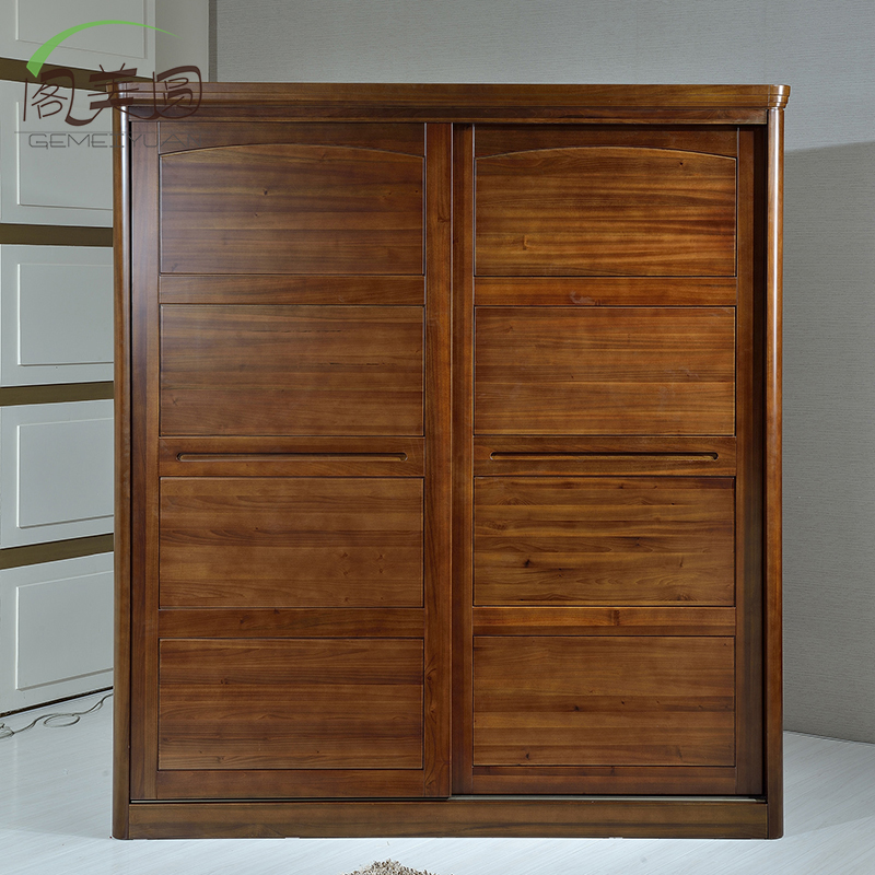 Court five dollar package teak teak bedroom furniture sliding door wardrobe wood wardrobe closet full of solid wood lockers