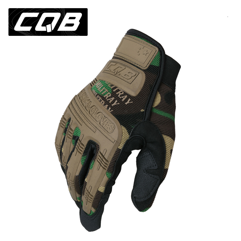 Cqb tactical gloves male technician gloves wear and fighting outdoor riding protective camouflage autumn and winter full finger gloves