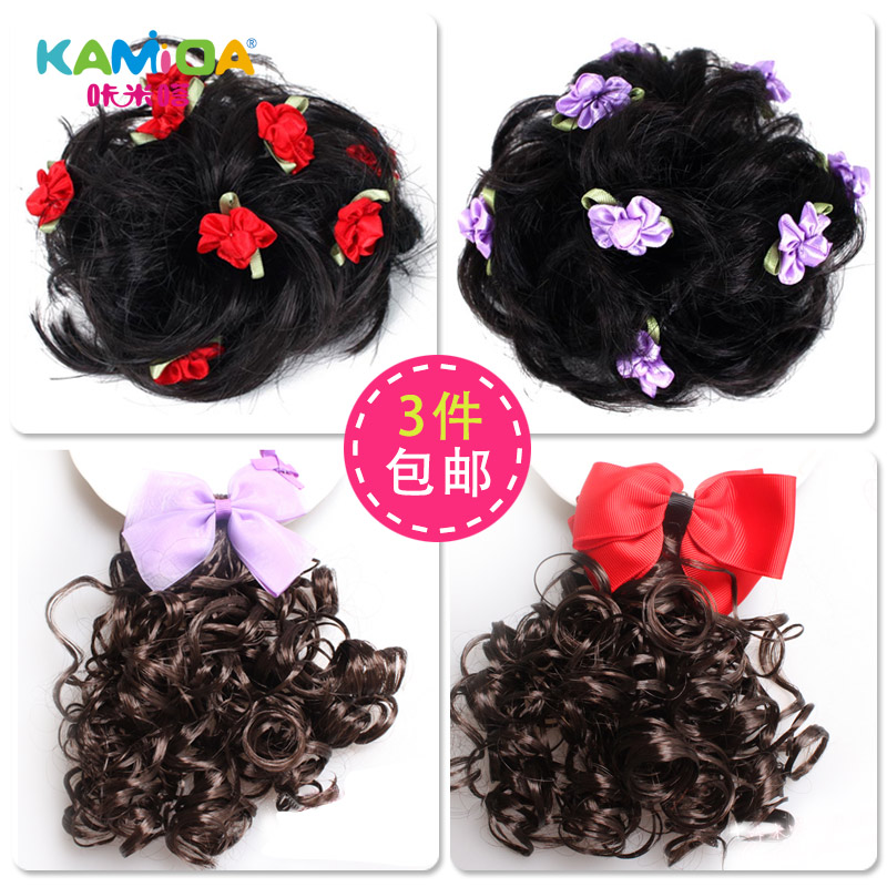 Cracking meters despair children's wig hair curlers bud girls princess hair accessories cute baby bow hairpin top folder