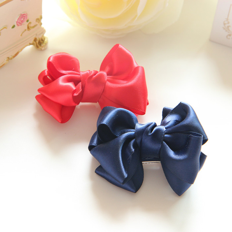 Cracking meters despair kamida double ribbon bow hairpin korean children hair accessories baby girls head ornaments