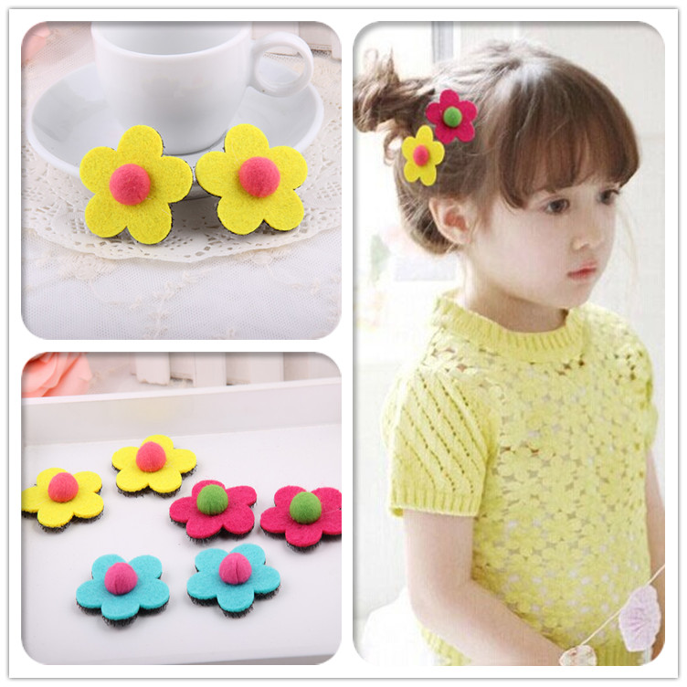 Cracking meters despair korean flower headdress posting posting magic stickers affixed colored children baby bangs paste magic posts