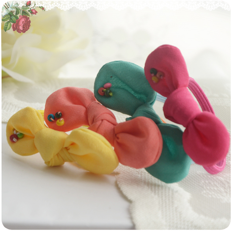 Cracking meters despair korean version of the new children's little girl bow hair accessories hair ring hair rope head ornaments ponytail tousheng jewelry