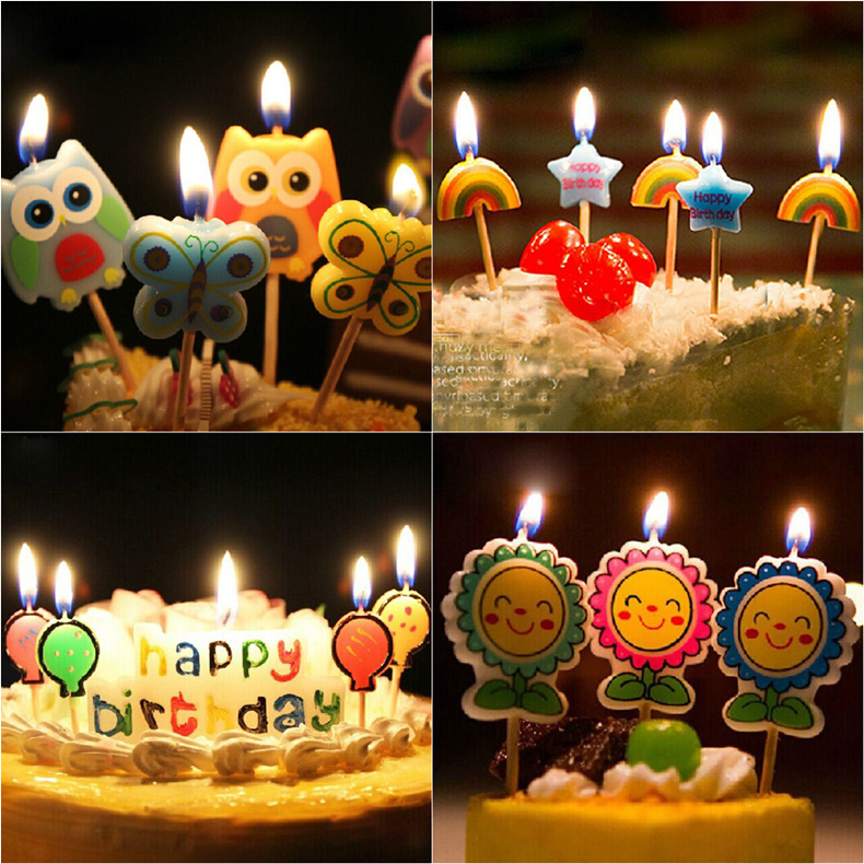 Get Quotations Creative Cartoon Cute Childrens Environmental Smokeless Candles Birthday Party Supplies Fuming Candle 1
