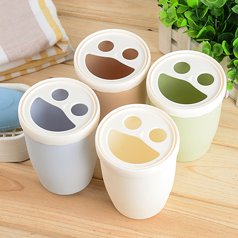 Creative couple brushing cup plastic cup with lid ivorysoap—when thick round cups toothbrush cup cylinder
