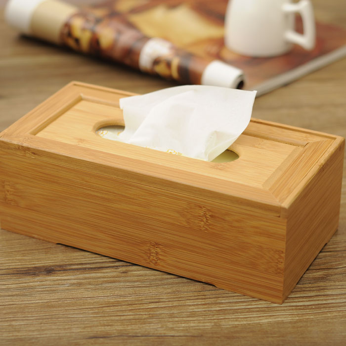 Creative minimalist modern living room pumping tray bamboo bamboo tissue box tissue box roll carton box home fashion home storage
