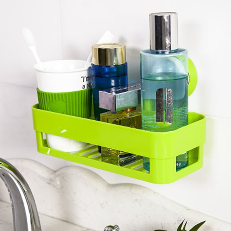 Creative rotary multifunction strong sucker kitchen bathroom shelf storage rack bathroom wall suction debris basket