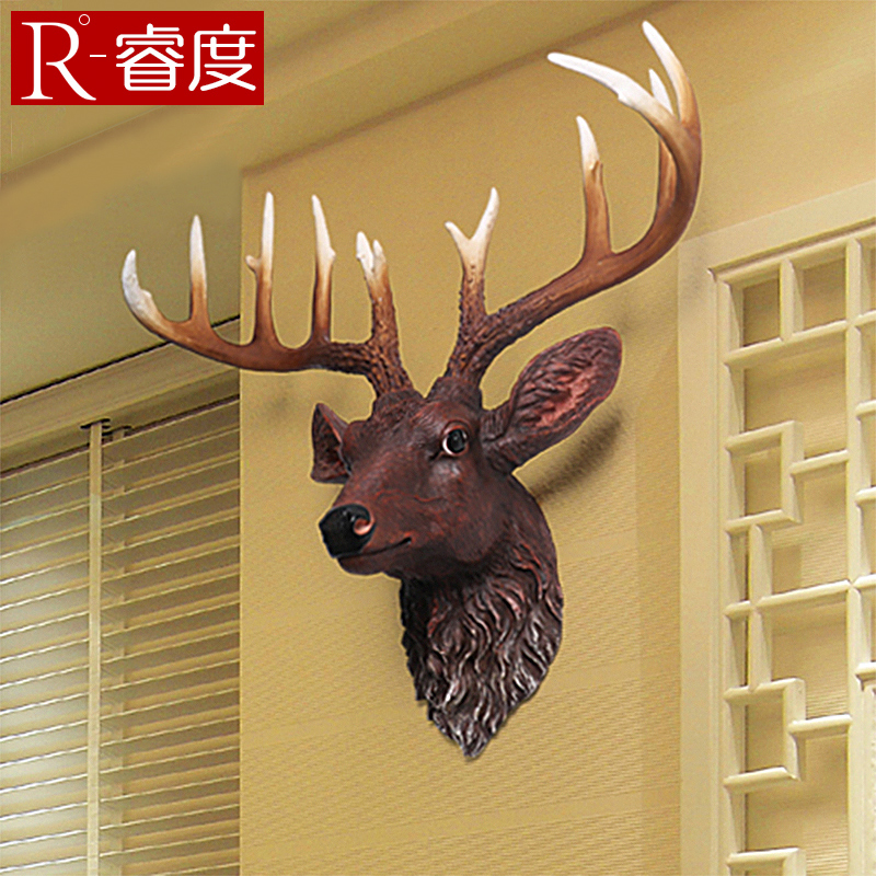 Creative wall decoration european simulation deer hanging wall hangings decorative wall decorations resin ornaments bar