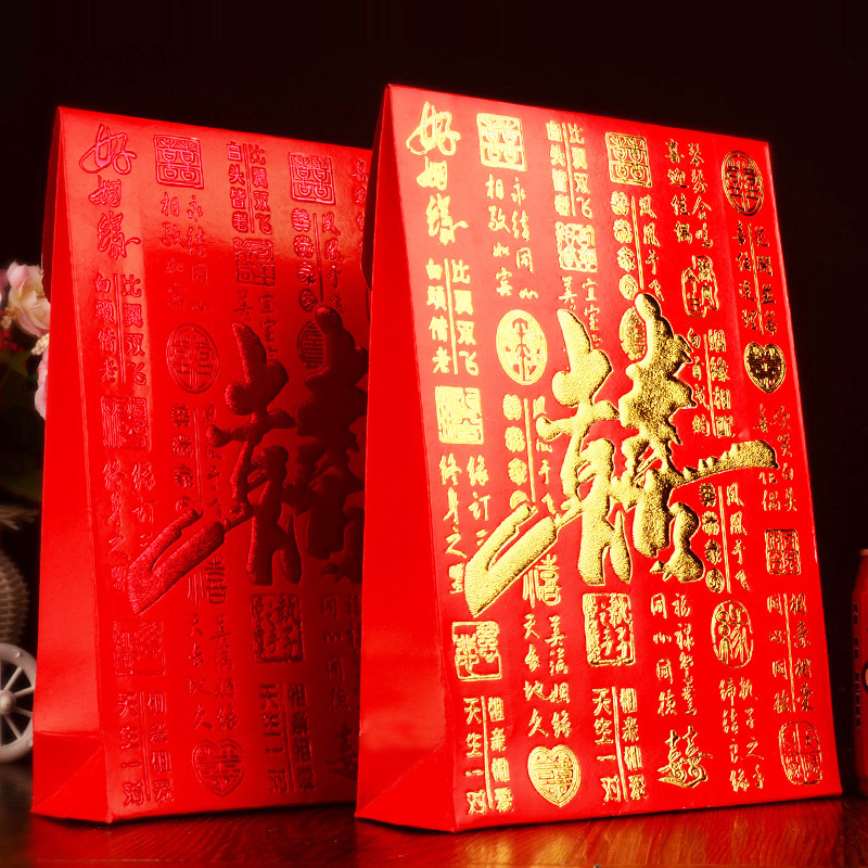 Creative wedding dress boom dowry gifts seal oversized king ten thousand yuan red envelopes red envelopes red packets