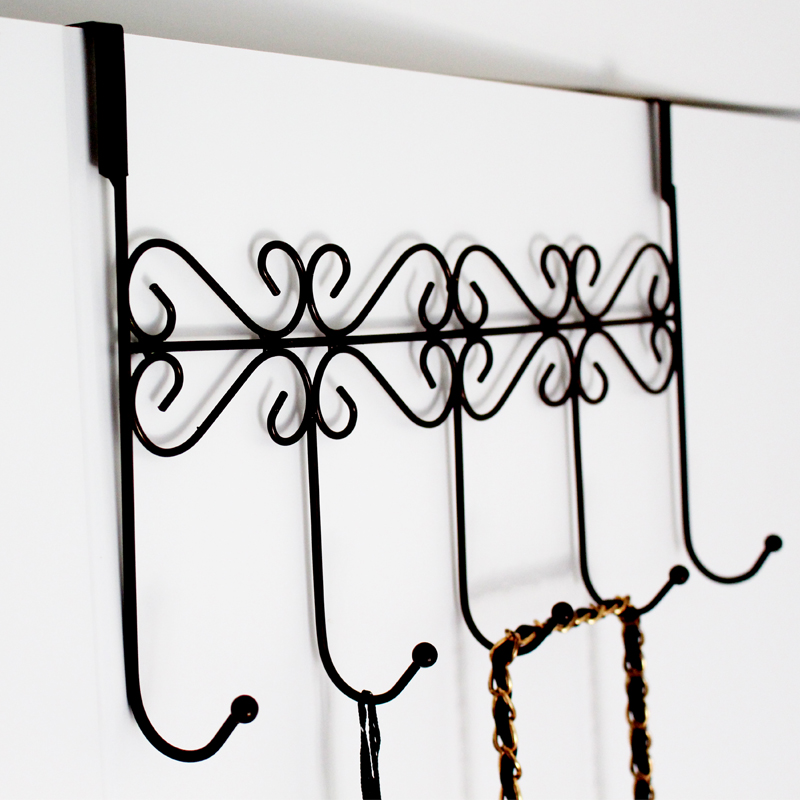 Creative wrought iron gate trace hook after hook stick hook kitchen strong hanger clothes hanging clothes hanging clothes hook free nail