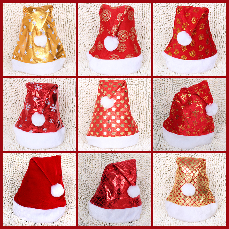 Creepy square new year special christmas tree decorations christmas gifts christmas hat adult children christmas hats