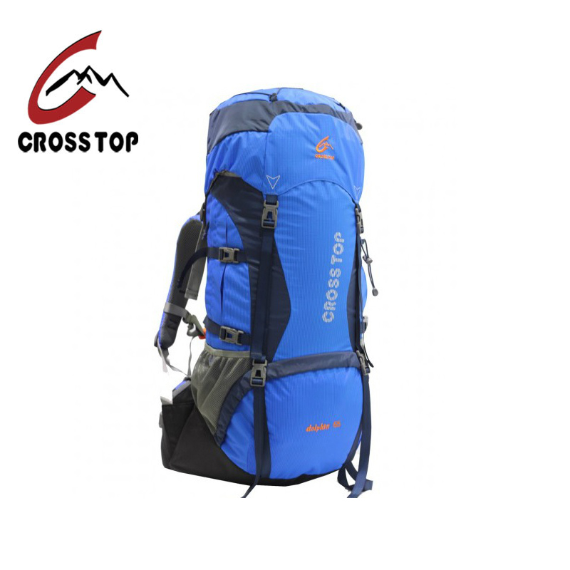 Crosstop through dolphin 45 55 65 outdoor mountaineering bag shoulder bag hiking camping backpack