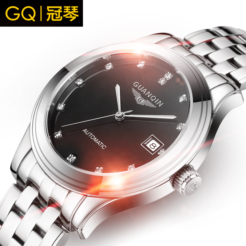Crown piano authentic watches automatic mechanical watches men fashion casual men's business watch waterproof diamond fashion watch