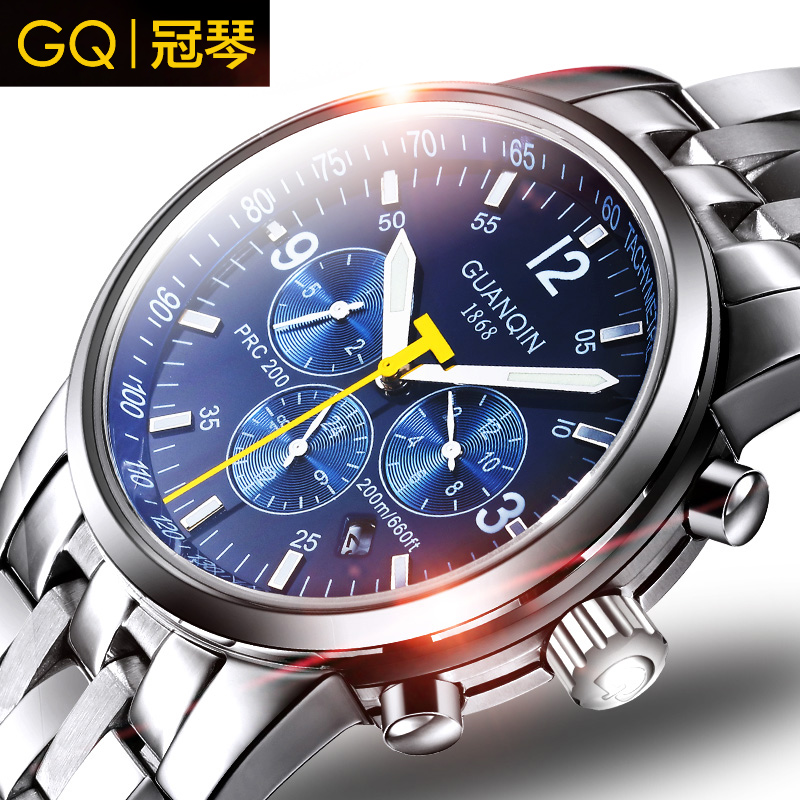 Crown piano genuine male table luminous automatic mechanical watches waterproof stainless steel band watch sports fashion business men