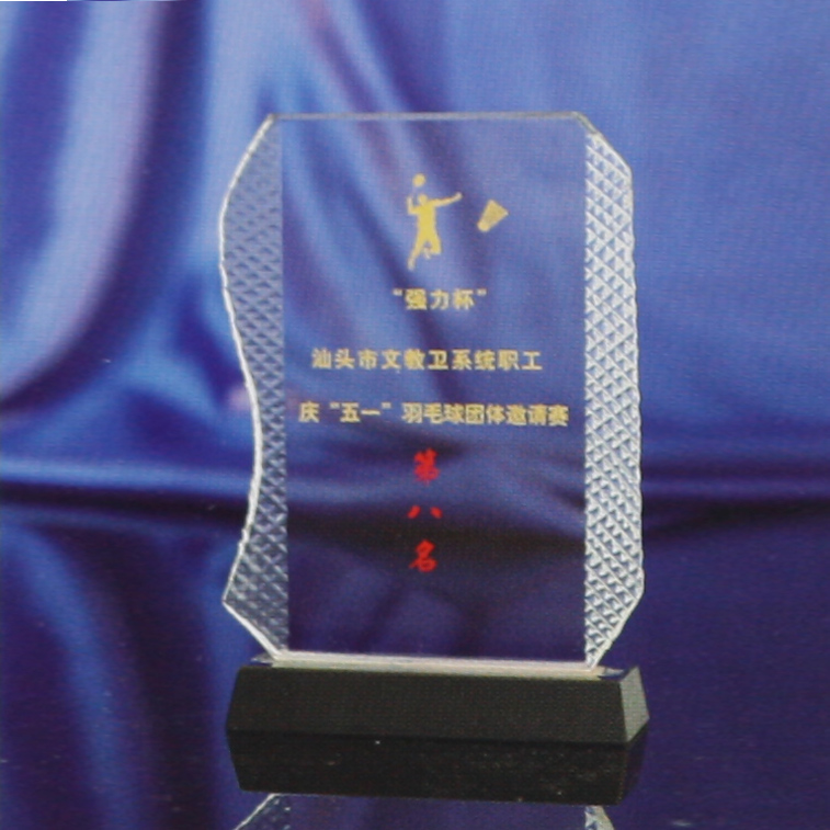 Crystal shengda crystal trophy custom made to order to join the licensing authority souvenir medal lettering spot 14