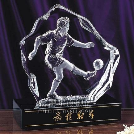 Crystal trophy custom made to order football trophy tournament trophy crystal trophy custom lettering best shooter
