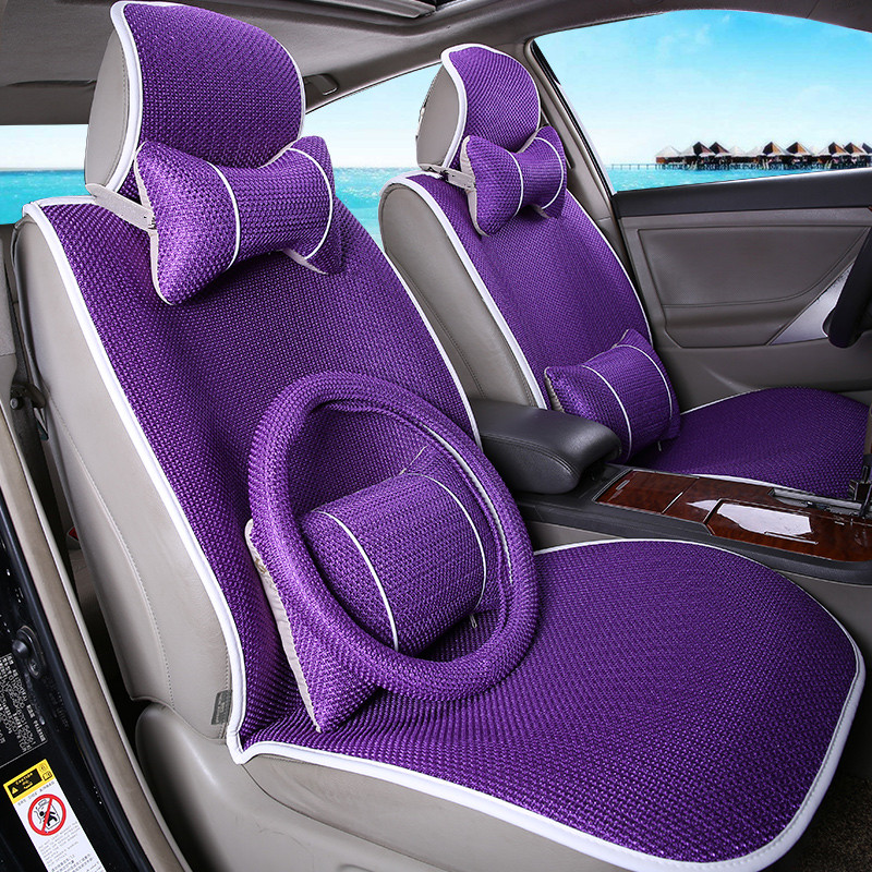Custom new summer ice silk car seat cover seat cover four seasons general avoid tying seat cushion seat cover sets four seasons general motors seat cover