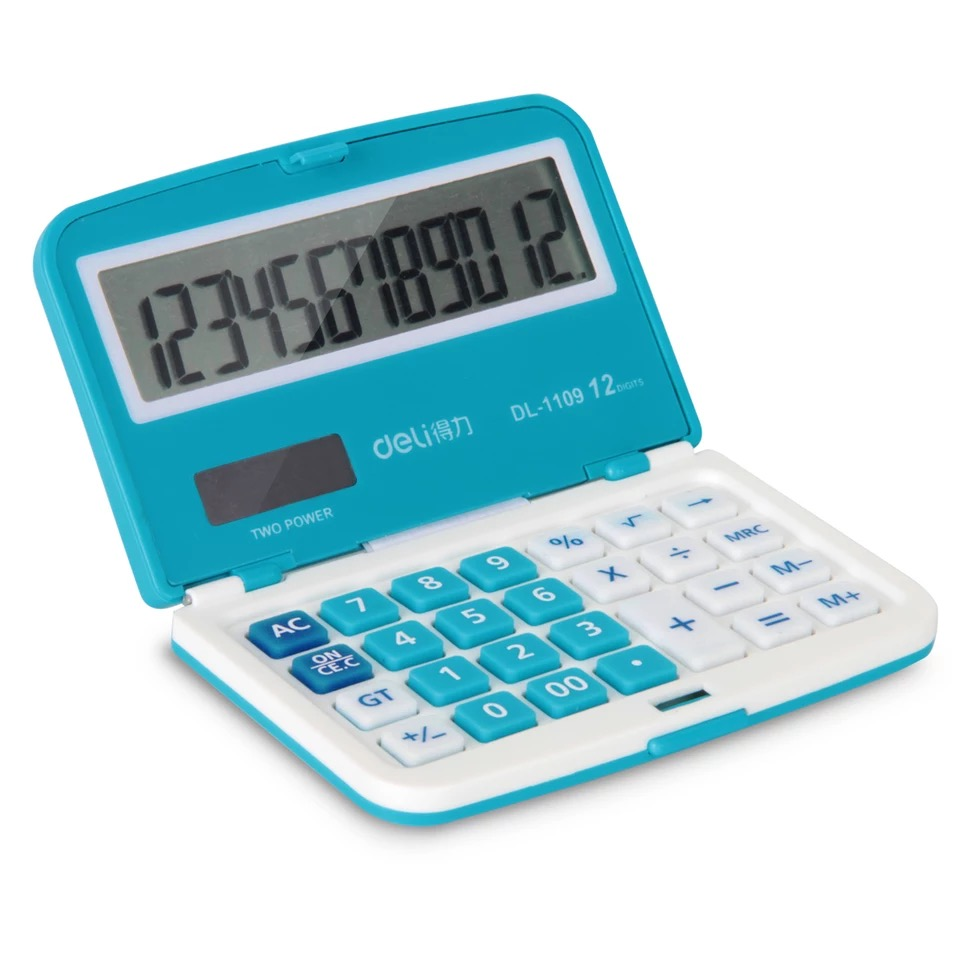Cute and creative student stationery deli 1109a computer finance office desktop calculator color calculator