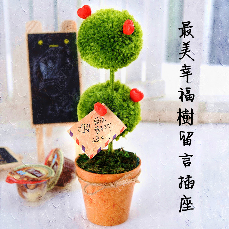 Cute little tree message block notes message block notes creative plants potted plant pots pots wedding gifts