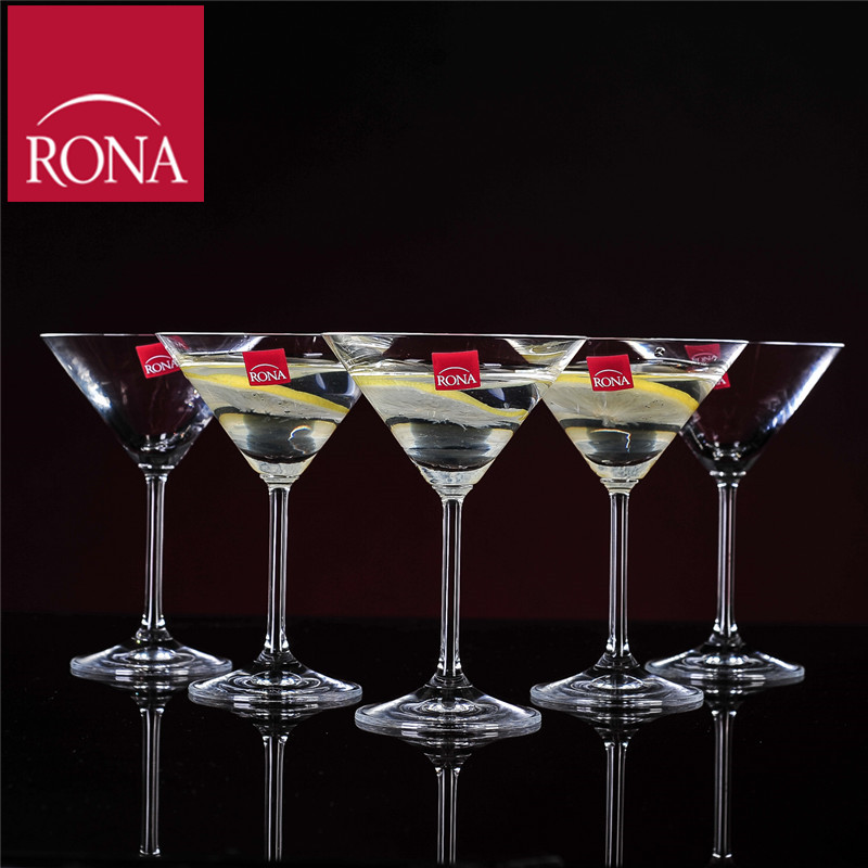 Czech rona unleaded crystal glass of hawaii cocktail martini glass triangular glass of wine goblet cup creative cup