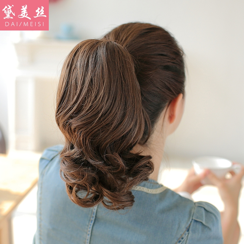 Dai meisi wig lifelike female big wave of hair claw clip ponytail wig short paragraph ms. wig ponytail wig piece