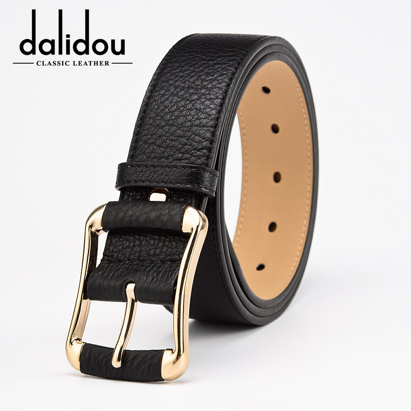 Daly are widening ms. black leather belt wide belt ms. belt leather belt female models female lengthened