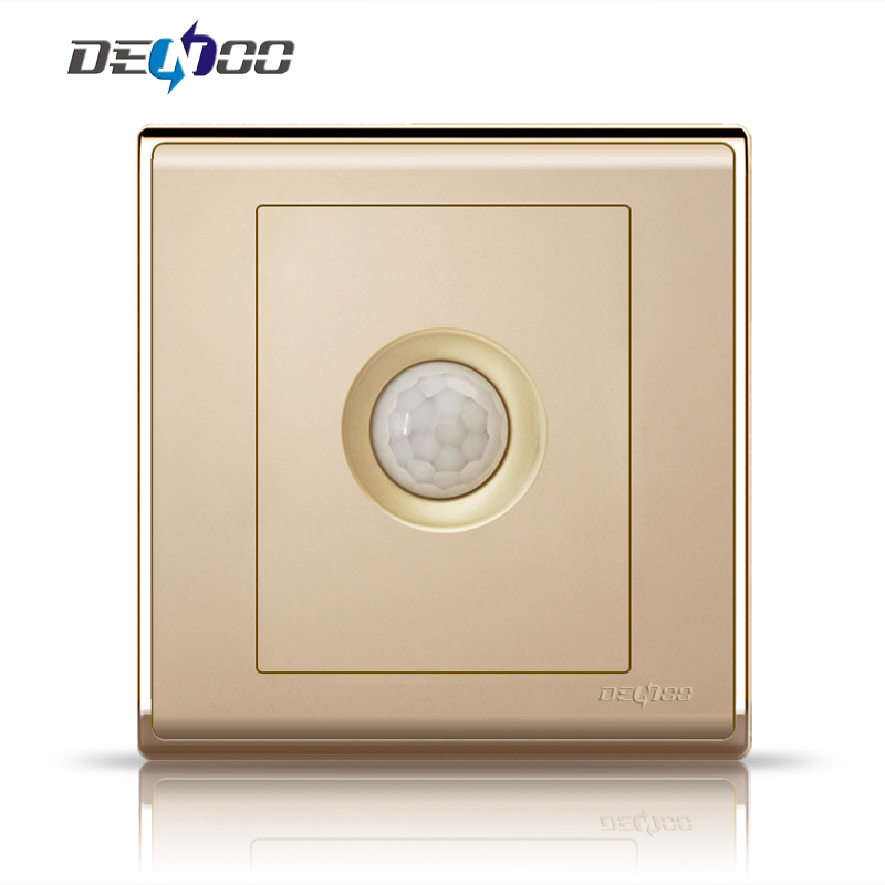 Dan long switch body infrared sensor switch body sensor switch infrared switch panel genuine champagne gold