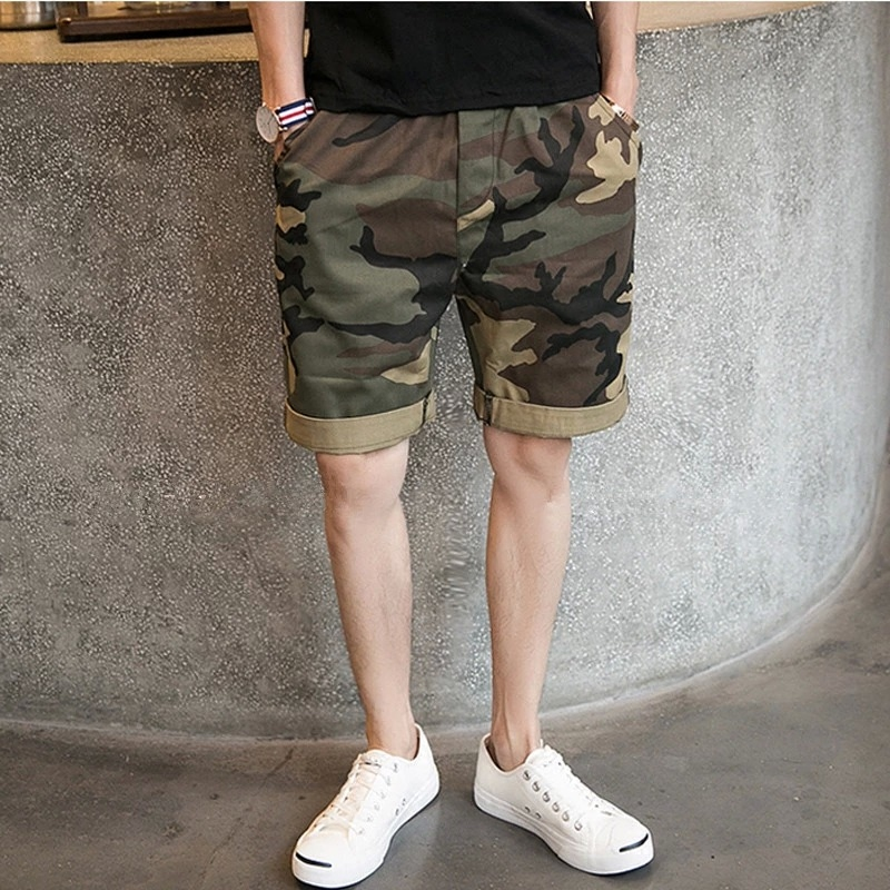 Dandor camouflage summer lovers beach pants beach pants five pants loose leisure fashion shorts men cotton shorts male tide