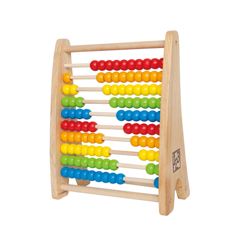 Dangdang department hape rainbow abacus calculation rack rack for over 3 years old 100 color abacus beads