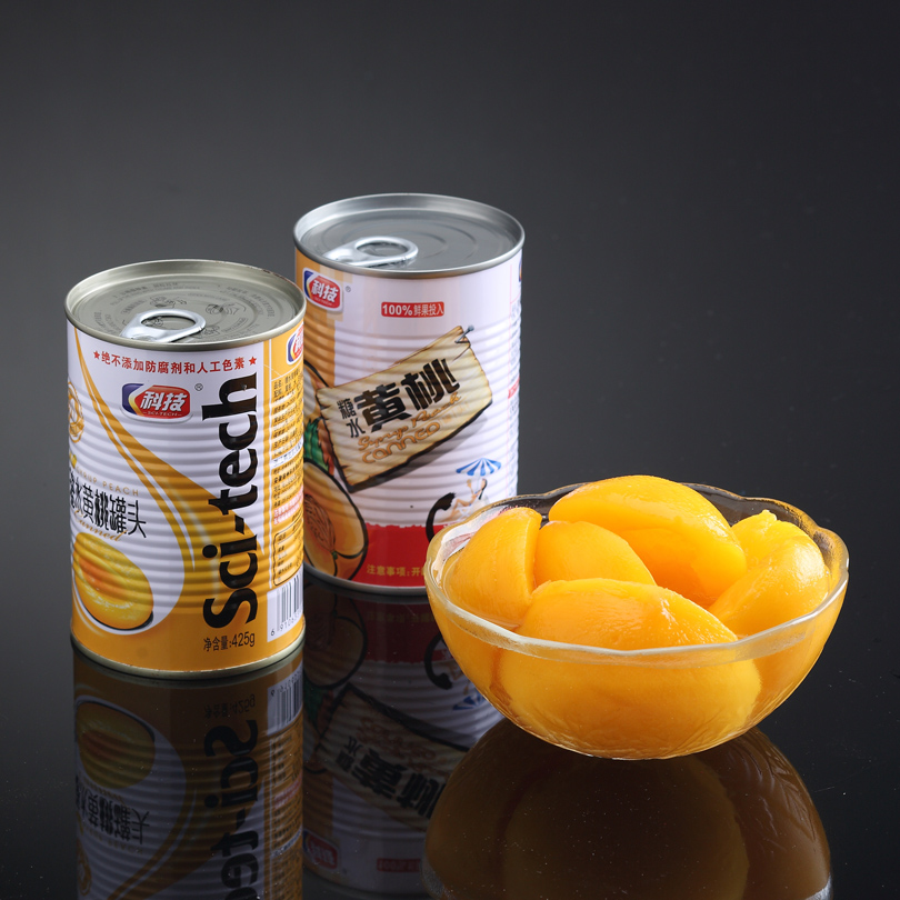 Dangshan technology 425g cans 2 cans of canned peach canned peach canned 2 cans of food in bulk