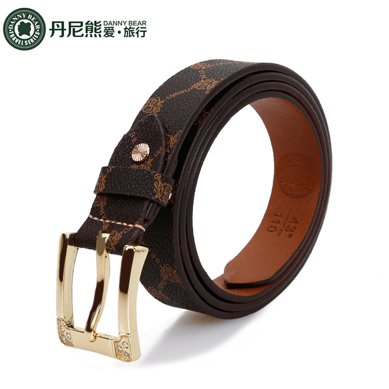 Danny bear love to travel printing personalized belt fashion belt belt DBTS59303 fresh trend wild section