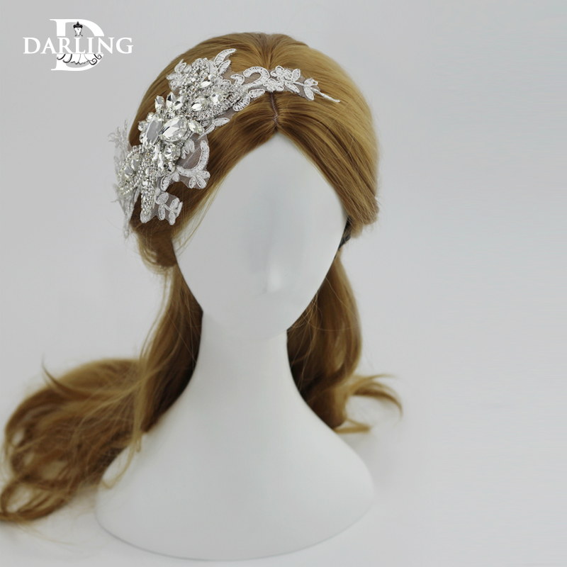 Darling lace bridal headdress wedding accessories handmade lace bridal headdress wedding jewelry wedding
