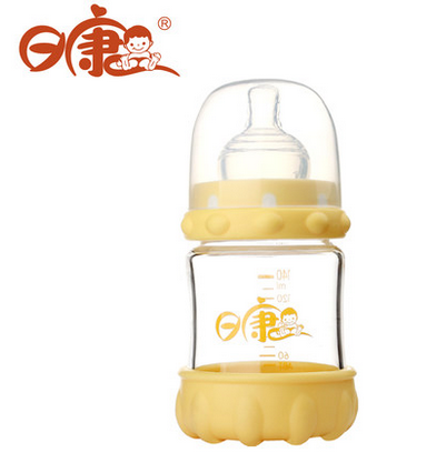 Day kang baby bottle rk-3102 140ML proof drop wide caliber glass bottle newborn baby bottle