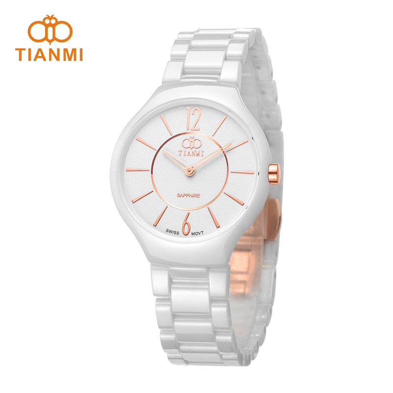 Days honey brand ms. thin white ceramic watches fashion watch korean female form genuine quartz watch waterproof watch