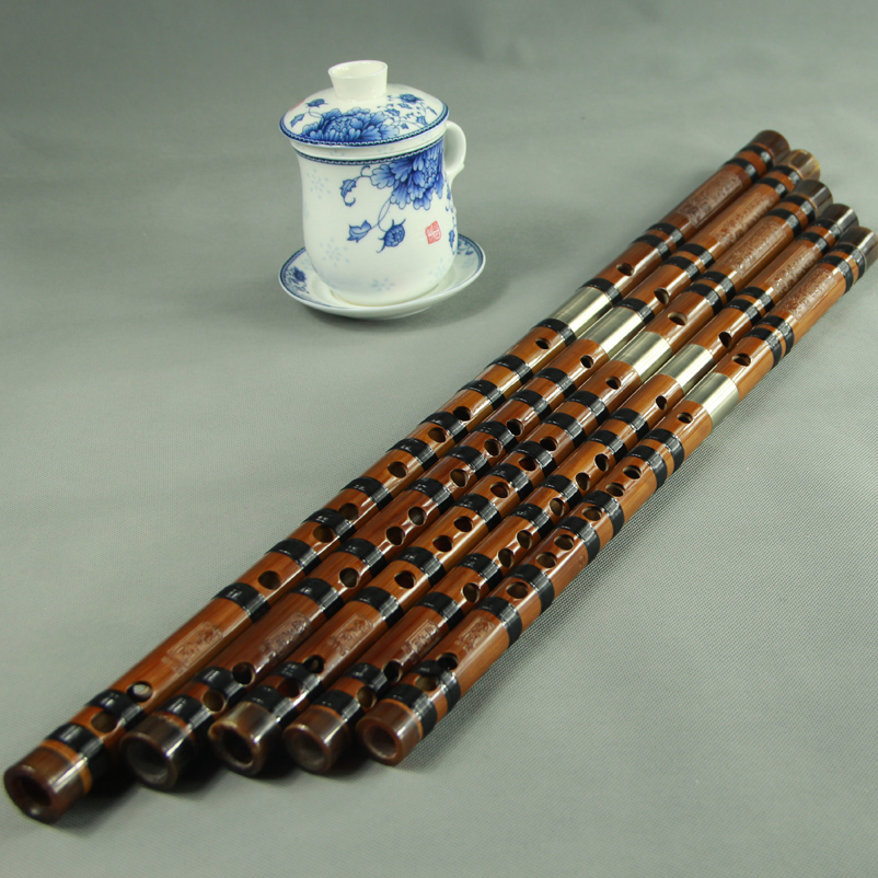 [Days que] genuine refined double plug flute flute playing musical instruments set/a set of five loading/ Send a box