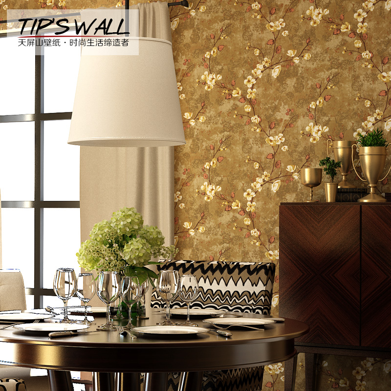Days shan american country retro pastoral pure paper wallpaper wallpaper tv backdrop wallpaper warm flower discount bargain