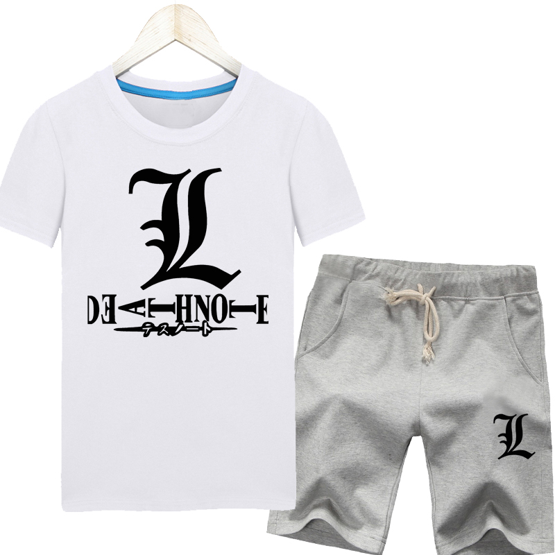 Death note clothes male summer thin section sleeve shirt plus fertilizer to increase code summer sports short sleeve t-shirt suit