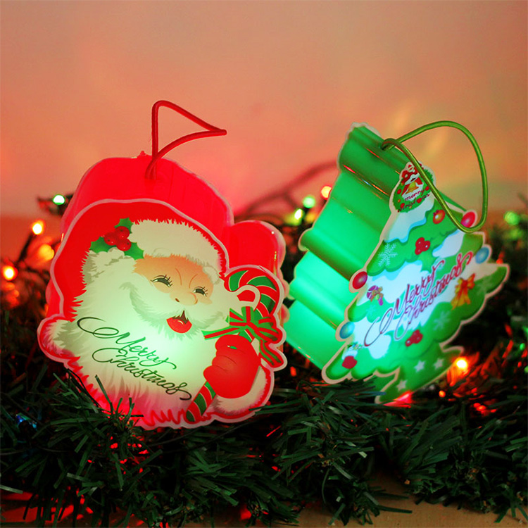 Decorations cartoon santa claus christmas gift led lights christmas tree decorations christmas lights